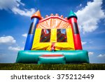 castle inflatable bounce house  | Shutterstock . vector #375212449