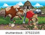 on the farm | Shutterstock .eps vector #37522105