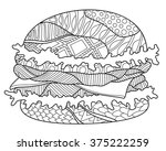 hamburger coloring page... | Shutterstock .eps vector #375222259