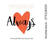 always   hand drawn lettering.... | Shutterstock .eps vector #375228355