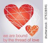 illustration of a valentines... | Shutterstock .eps vector #375228541