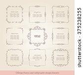 vintage square frames set.  | Shutterstock .eps vector #375238255