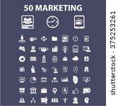 marketing icons | Shutterstock .eps vector #375253261
