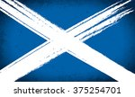 scottish saltire flag grunge | Shutterstock .eps vector #375254701