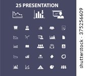 marketing presentation icons  | Shutterstock .eps vector #375256609