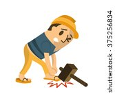 Construction Worker In An...