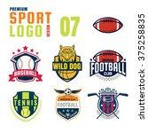 sport logo design set   Shutterstock .eps vector #375258835