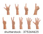 hand gestures 1.2.3.4.5 numbers ...   Shutterstock . vector #375264625
