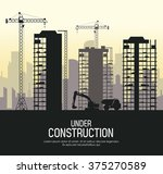 under construction design  | Shutterstock .eps vector #375270589