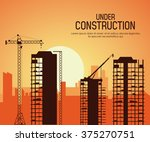 under construction design  | Shutterstock .eps vector #375270751