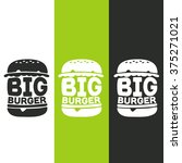 big burger logos stickers emblem | Shutterstock .eps vector #375271021