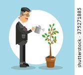business growth design  | Shutterstock .eps vector #375271885