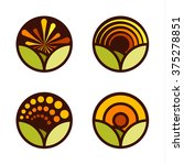 set of round abstract vector... | Shutterstock .eps vector #375278851