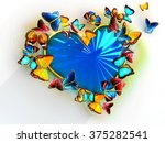 multicolored butterflies flit... | Shutterstock . vector #375282541