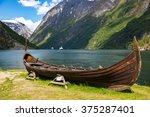 Old Viking Boat Replica In A...