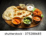 indian dish curry lunch set | Shutterstock . vector #375288685