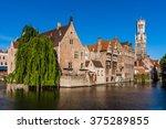 Belfry Tower In Bruges  Belgium