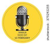 world radio day. retro... | Shutterstock .eps vector #375292255