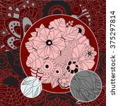 vector seamless patchwork...   Shutterstock .eps vector #375297814