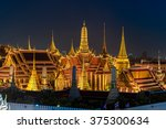 grand palace and wat phra keaw... | Shutterstock . vector #375300634