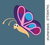 vector illustration of cute... | Shutterstock .eps vector #375304741