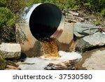 Brown Runoff Rain Water Flowin...