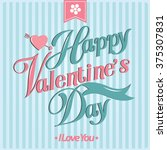 happy valentine day cards... | Shutterstock .eps vector #375307831