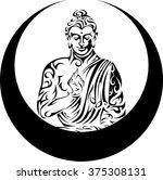 buddha   tribal buddha   seated ... | Shutterstock .eps vector #375308131