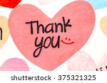 thank you with love | Shutterstock . vector #375321325