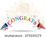 congratulations celebration...   Shutterstock . vector #375335275