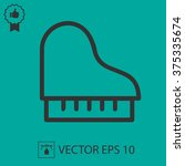 piano vector icon. simple... | Shutterstock .eps vector #375335674