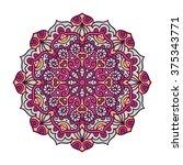 vector mandala ornament. round...   Shutterstock .eps vector #375343771