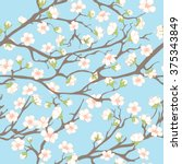 spring seamless pattern. spring ... | Shutterstock . vector #375343849