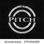 pitch chalk emblem  retro style ... | Shutterstock .eps vector #375346489
