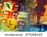 periodic table of elements and... | Shutterstock . vector #375348169