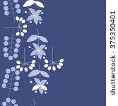 stylized pattern  doodles ... | Shutterstock .eps vector #375350401