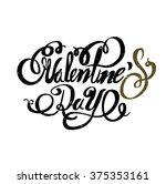vintage typography valentine's... | Shutterstock .eps vector #375353161