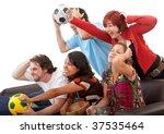 group of friends watching... | Shutterstock . vector #37535464
