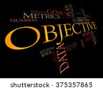 objective word cloud  business... | Shutterstock . vector #375357865