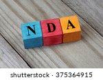 nda  non disclosure agreement ... | Shutterstock . vector #375364915