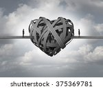 confused about love concept as... | Shutterstock . vector #375369781