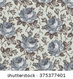 roses. seamless classic pattern.... | Shutterstock .eps vector #375377401