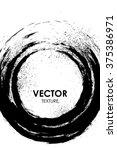 abstract grunge round black...   Shutterstock .eps vector #375386971
