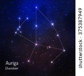 auriga constellation in the...   Shutterstock .eps vector #375387949