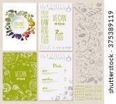 restaurant organic natural... | Shutterstock .eps vector #375389119