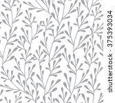 seamless vector floral pattern. ... | Shutterstock .eps vector #375393034
