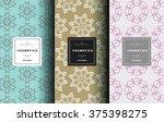 vector cosmetics logo design... | Shutterstock .eps vector #375398275