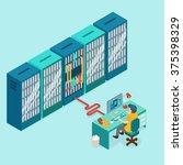 data center and hosting.... | Shutterstock .eps vector #375398329