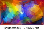 bright color crumpled... | Shutterstock .eps vector #375398785