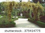 wedding decoration floral arch... | Shutterstock . vector #375414775